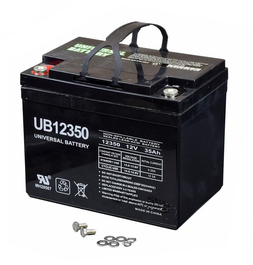 non-spillable lead acid battery commonly used in mobility scooters