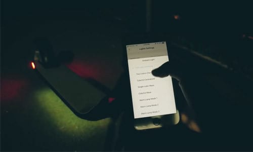 ambient light and setup in mobile app