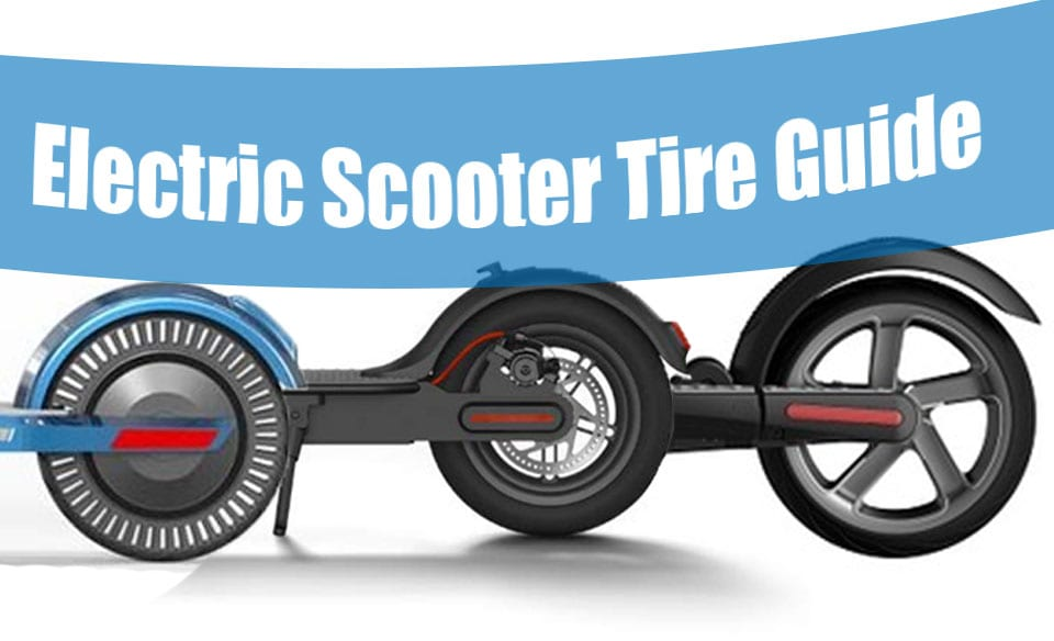 visual guide to the different electric scooter tire types